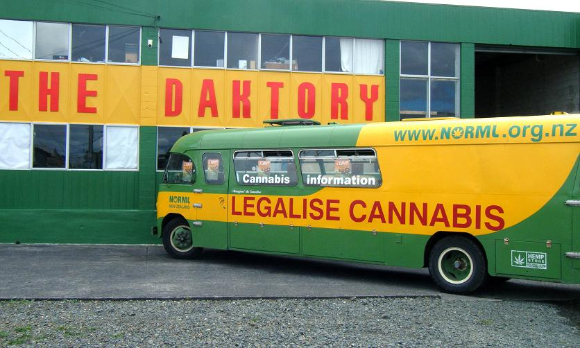 NORML bus in DRUG-TAKING ROW at TVNZ
